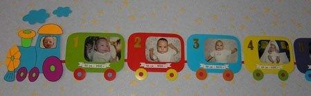 Детский паровозик 1 год шаблон