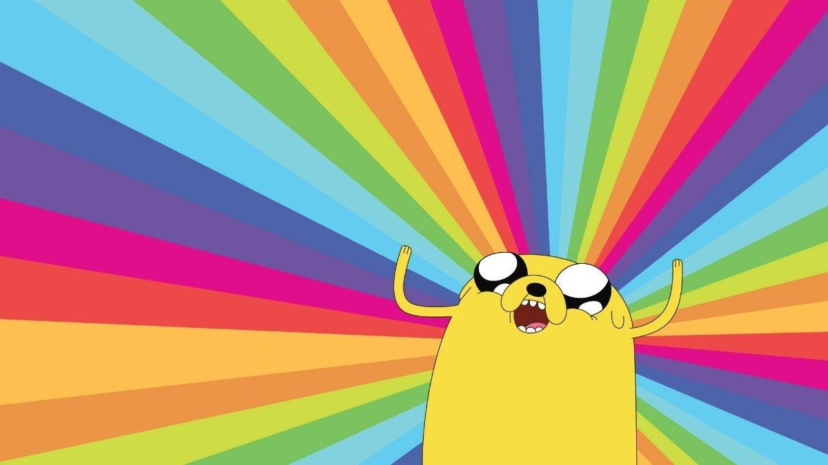 Гифки днем, смешные картинка с радугой