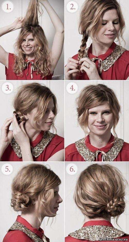 Летние прически для средних волос в домашних условиях