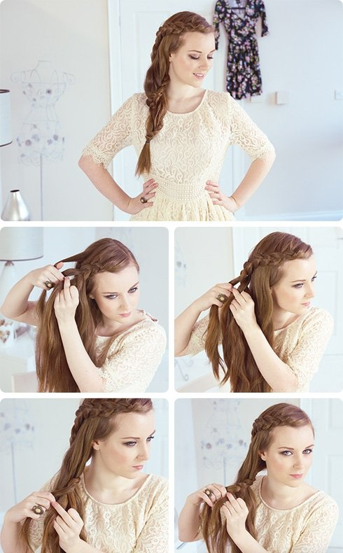 Простая но красивая прическа на средние волосы на каждый день