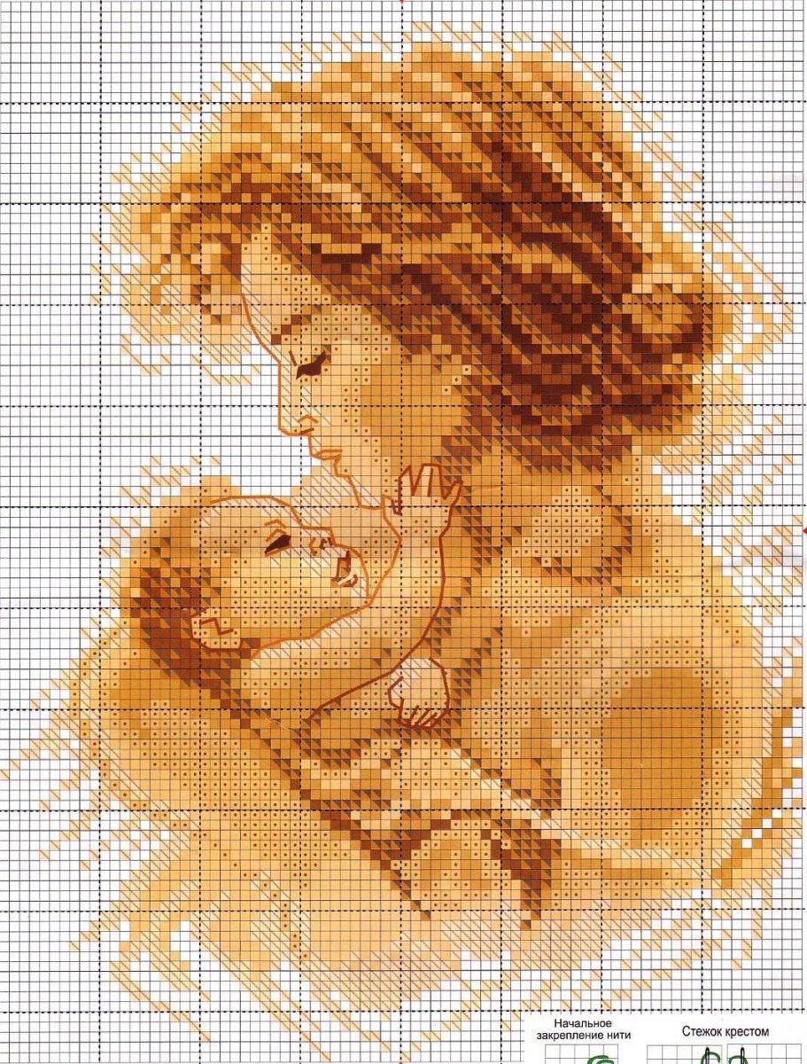 Вышивка крестом мама ру