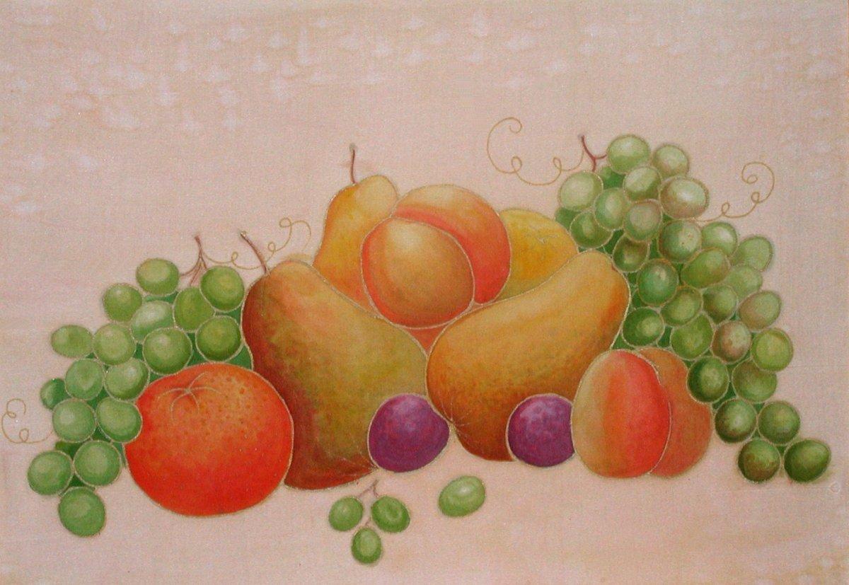 увидит, картинки для рисования натюрморта из фруктов одним атрибутов места