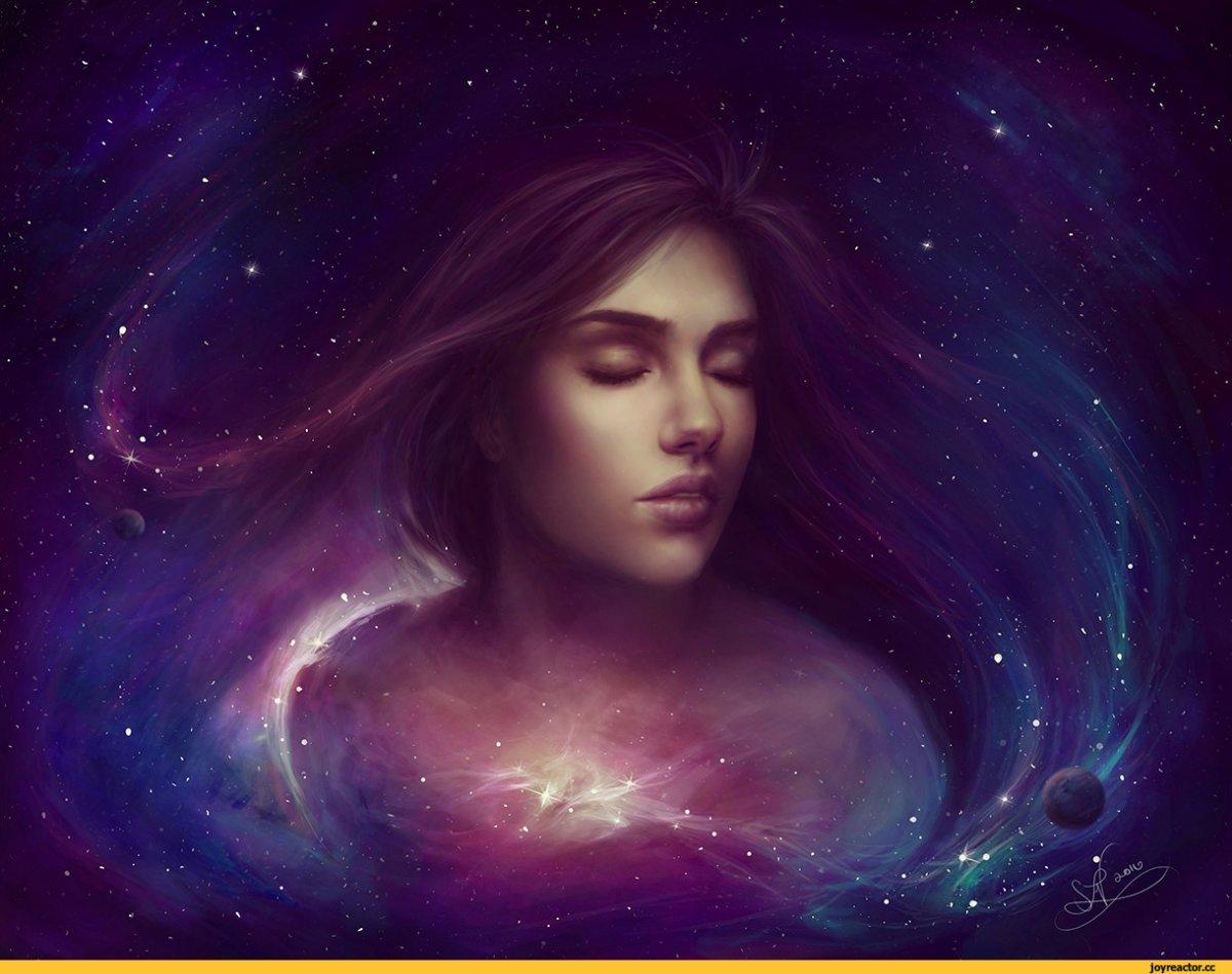 Вселенная и девушка картинки